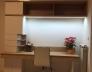 Psací stůl dětský pokoj_Bílá Alpská W1100 ST30_Dub Sonoma 325 SWN