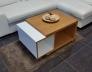 Konferenční stolek dýha dub_bílá lesk