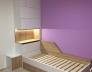 Postel dětský pokoj_Bílá Alpská W1100 ST30_Dub Sonoma 325 SWN