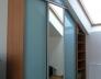 Buk Bavaria - Rám CI10 stříbro, Lacobel modrý, zrcadlo stříbrné